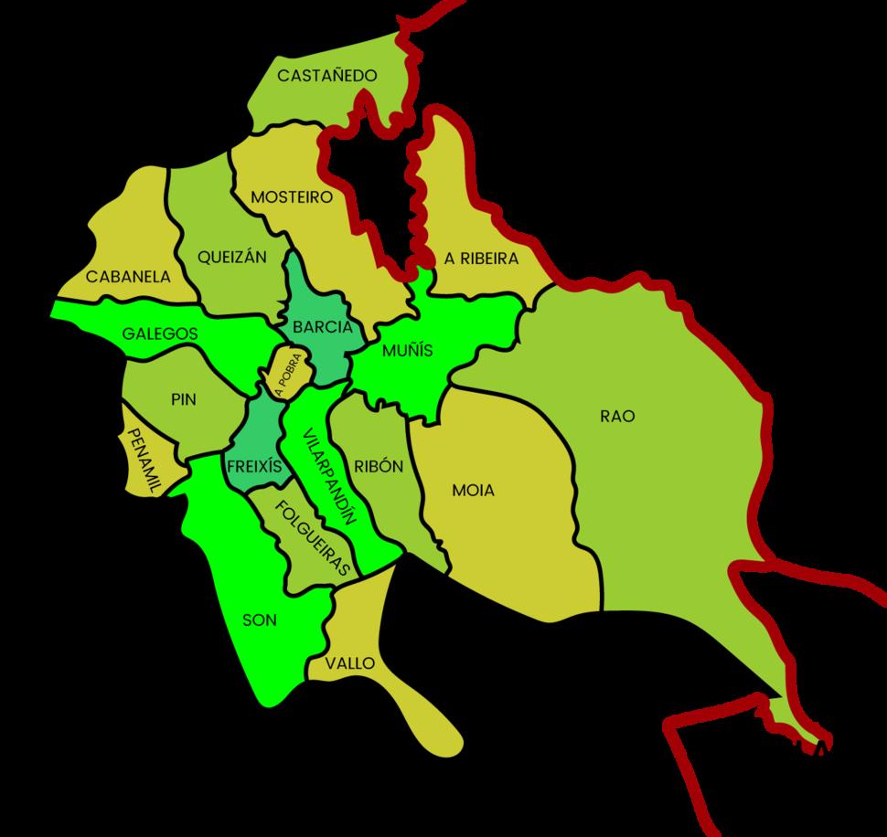 Mapa parroquias Navia de Suarna