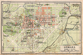 Asmara - Map of Asmara in 1929