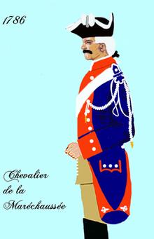 L'ancêtre de la GENDARMERIE dans ARTISANAT FRANCAIS 220px-Mar%C3%A9chauss%C3%A9e_1786