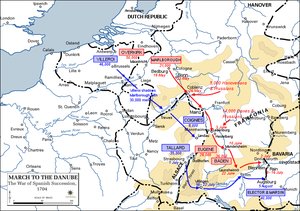 March to the Danube 1704