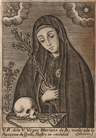 "St Mariana de Jesus, the ""Lily of Quito,"" known for her spirituality Mariana de Jesus.jpg"