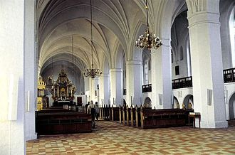 Maribo Cathedral - The nave