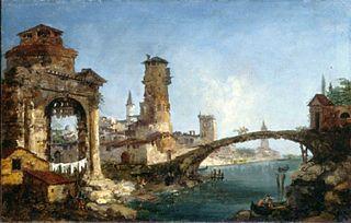 Fantastic Landscape with Ruins