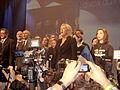 Marine Le Pen, chantant la Marseillaise Paris louis maitrier banquet des Mille.jpg