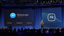 Mark Zuckerberg on stage at Facebook's F8 Developers Conference 2015 (16748468719).jpg