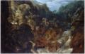 Marten Rijckaert - A Rocky Landscape with a Waterfall - the Flight into Egypt.tiff