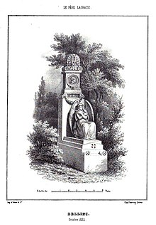 Monument to Bellini erected in 1839 at Père Lachaise cemetery (Source: Wikimedia)