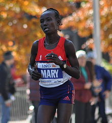 Mary Keitany New Yorkin maratonilla 2011.