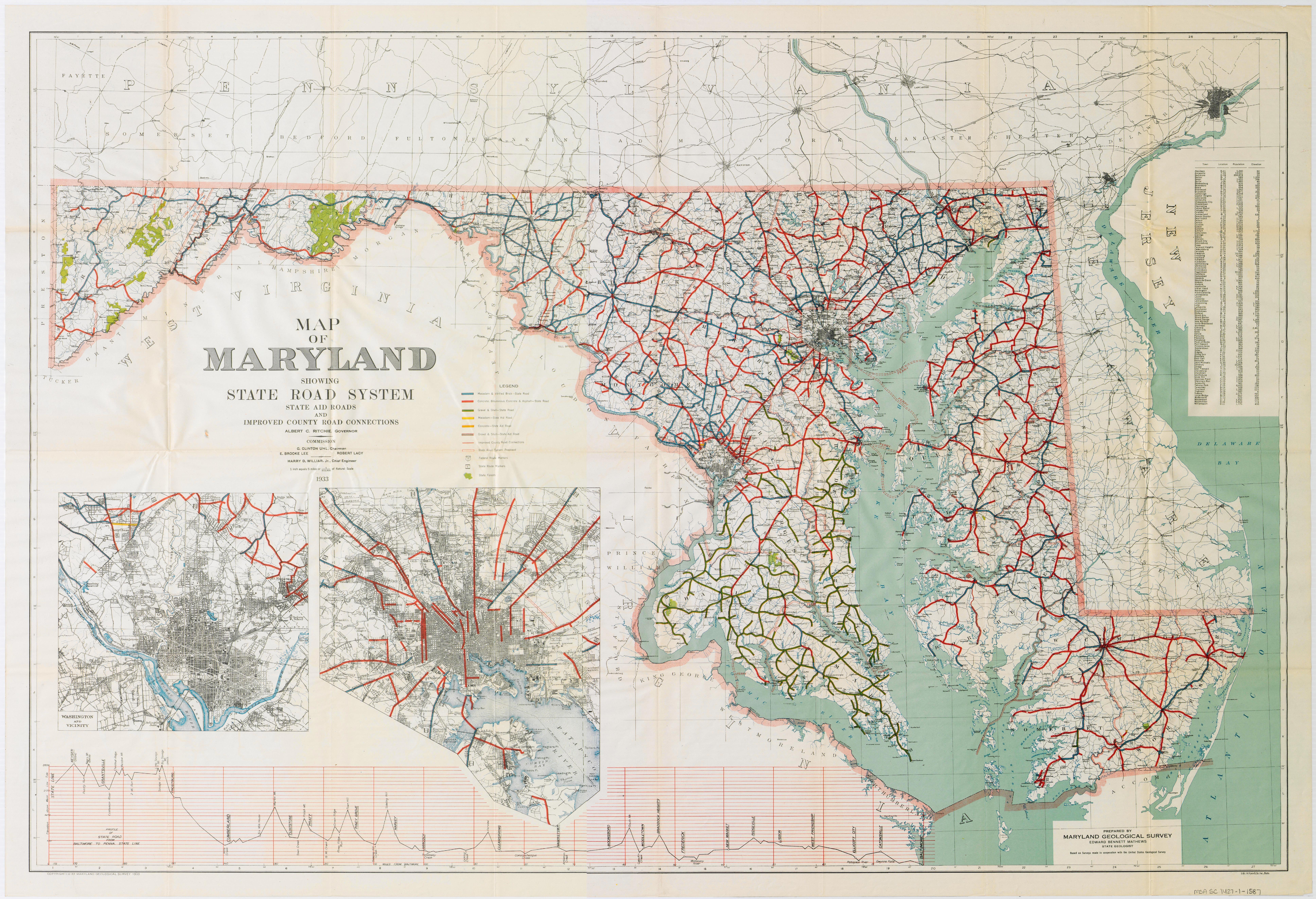 FileMaryland State Highway Map 1933pdf Wikimedia Commons