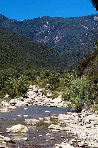 Matilija Wilderness - Matilija Creek in the Matilija Wilderness