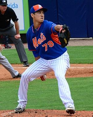 Matt Bowman - Bowman pitching for the New York Mets