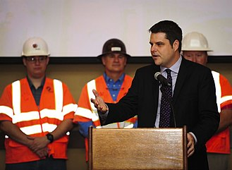 Matt Gaetz - Matt Gaetz speaking at a celebration for the completion of the US 98 interchange