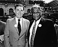 "Mayor Raymond L. Flynn and Chicago Mayor Harold Washington at rally for ""fair federal budget"" (9516904119).jpg"