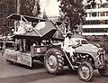 Meharban Singh driving. Kenya Polytechnic Float. Nairobi. Jul 1963. Photo by The Nation.jpg