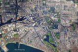 Satellite image of Melbourne