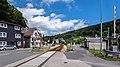 """Mellenbach Glasbach Gleis Bestandteil der Sachgesamtheit """"Eisenbahnstrecke Oberweißbacher Berg- und Schwarzatalbahn"""" 3.jpg"""