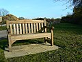 Memorial bench, RAF Blakehill Farm, near Cricklade - geograph.org.uk - 1733220.jpg
