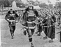 Men dressed in traditional Samurai style in Kagoshima Japan 1922, during Edward VIII visit.jpg