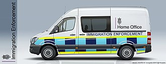 Immigration Enforcement - A Cell Van used by Immigration Enforcement to safely transport immigration offenders to custody