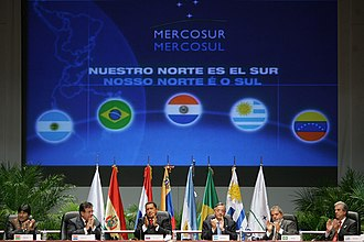 Foreign relations of Brazil - Mercosur, a regional trade bloc between Argentina, Brazil, Paraguay, Uruguay, and Venezuela.