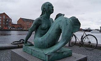 Mermaid (Carl-Nielsen) - The Mermaid sculpture outside the Black Diamond