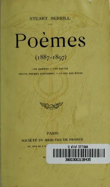 File:Merrill - Poèmes, 1887-1897, 1897.djvu
