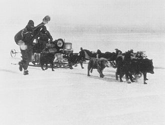 Australasian Antarctic Expedition - The start of the Far Eastern Party expedition, 1912