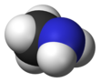 Spacefill model of methylamine