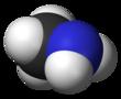 Spacefill model of methylamine