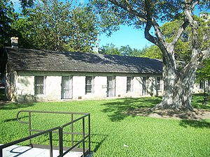Old plantation slave quarters, moved to the park from Fort Dallas
