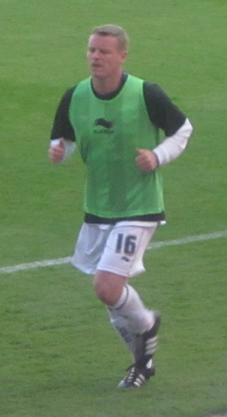 Michael Ball (footballer) - Ball warming-up for Leicester City in 2011