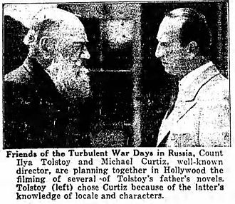 Michael Curtiz - Curtiz (r) with Ilya Tolstoy in 1927