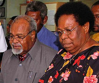Michael Somare - Somare and his wife Veronica, Lady Somare.