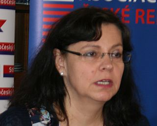 Michaela Marksová Czech minister of labour and social affairs of the CR and local politician