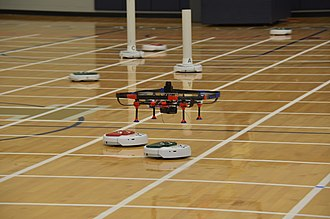 International Aerial Robotics Competition - University of Michigan mission 7a aerial robot at the 2014 American Venue