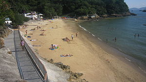 Middle Bay (Hong Kong) - Overview of beach