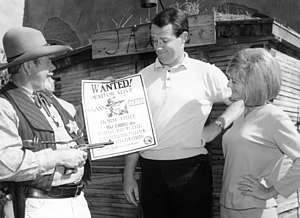 Mike Farrell - Mike with Judy Farrell at Knott's Berry Farm in 1966