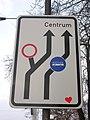 Milady Horákové-Na valech, návěst jízdních pruhů.jpg