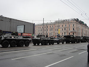Military vehicle at the Victory parade 2012.jpg