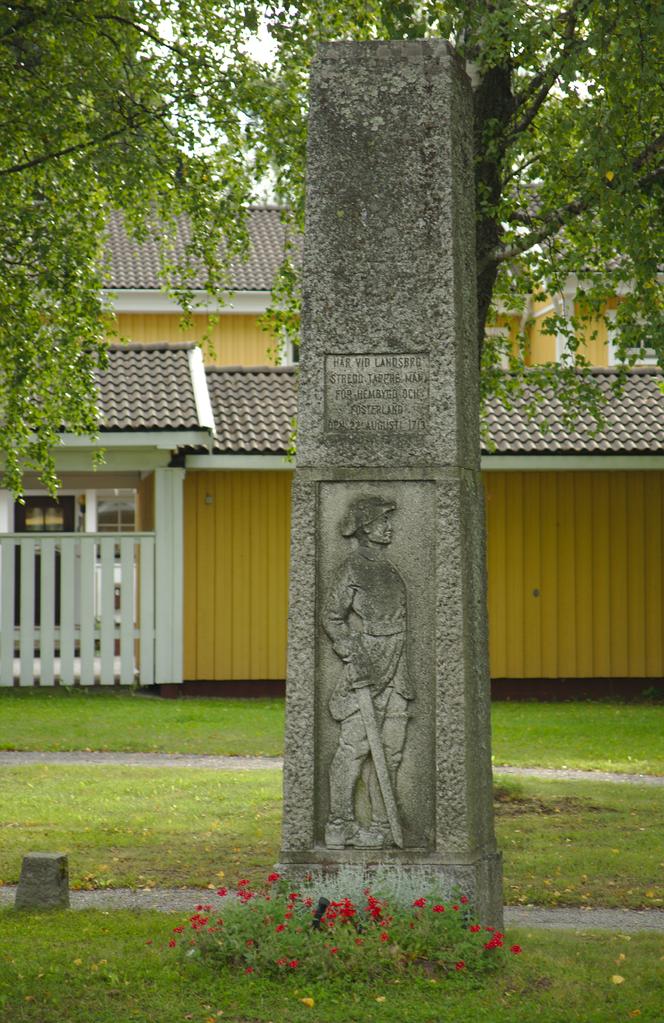 File Minnessten Slaget Vid Landsbro Png Wikimedia Commons