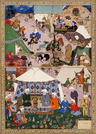 Mir Sayyid Ali - Miniature from Layla and Majnun (c. 1540)