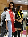 Miss Universe Sri Lanka Jayathi De Silva and Miss Universe Equador Connie Jimenez (2017).jpg