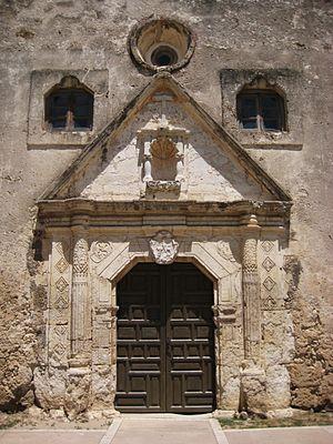 Mission Concepcion - Image: Mission Concepcion San Antonio Door