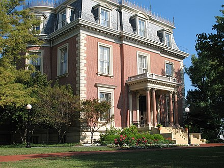 The Missouri Governor's Mansion in Jefferson City is on the U.S. National Register of Historic Places. Missouri-governor-mansion.jpg
