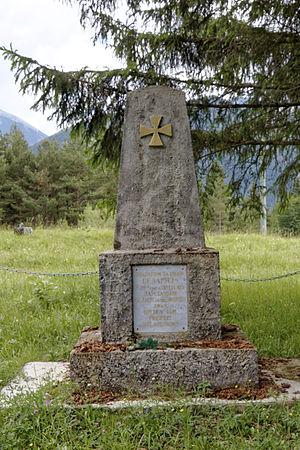 Slutsk Defence Action - Monument in honor of Slutsk rebels near Mittenwald