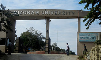 Mizoram - Mizoram Peace Accord was signed in June 1986. The Accord granted political freedoms by making Mizoram a full state of India, and included infrastructure provisions such as a High Court and establishment of Mizoram University (shown).