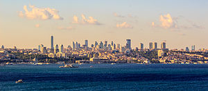 Modern Istanbul skyline at sunset.jpg