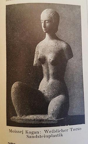 Moissey Kogan - Female Torso in sandstone