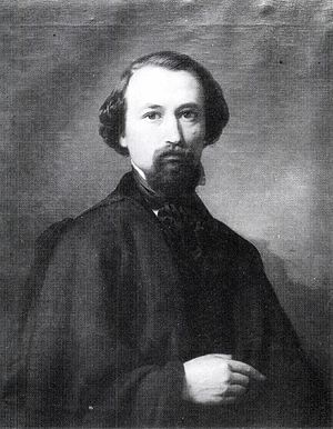 József Molnár (painter) - Molnár in c. 1849, self-portrait