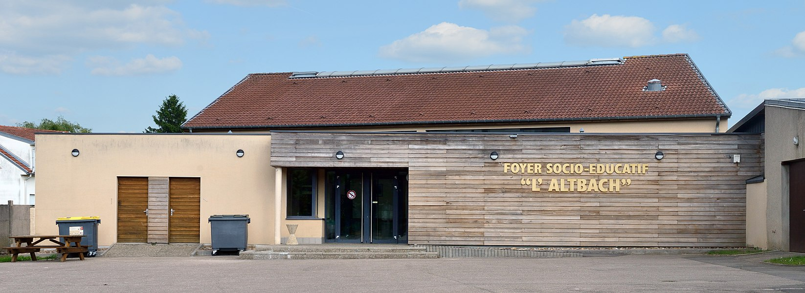 Socio-cultural centre in Mondorff, department of Moselle, France